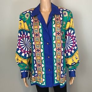 Andrea Gayle Multi-colored Printed Blouse